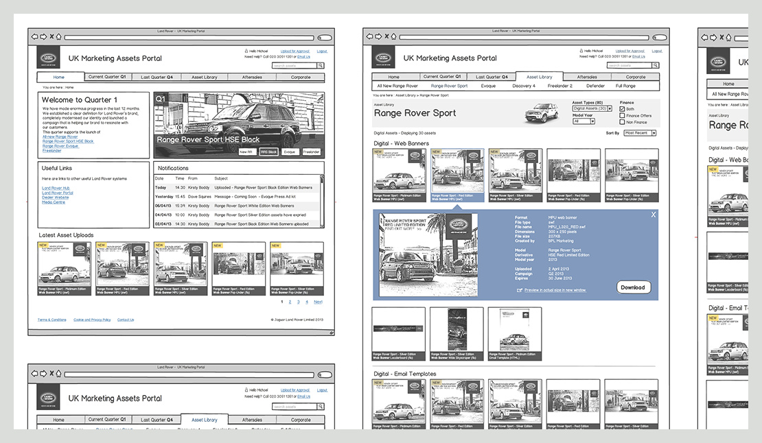 Land Rover – Business Application